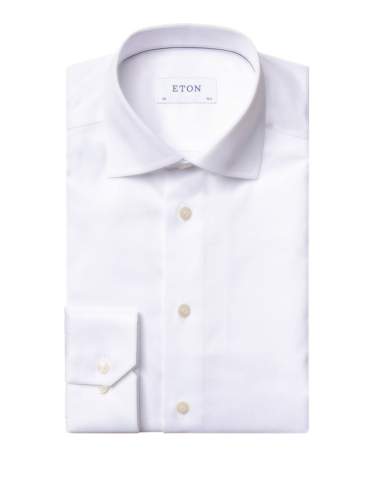 Slim Fit Signature Twill Shirt Vit