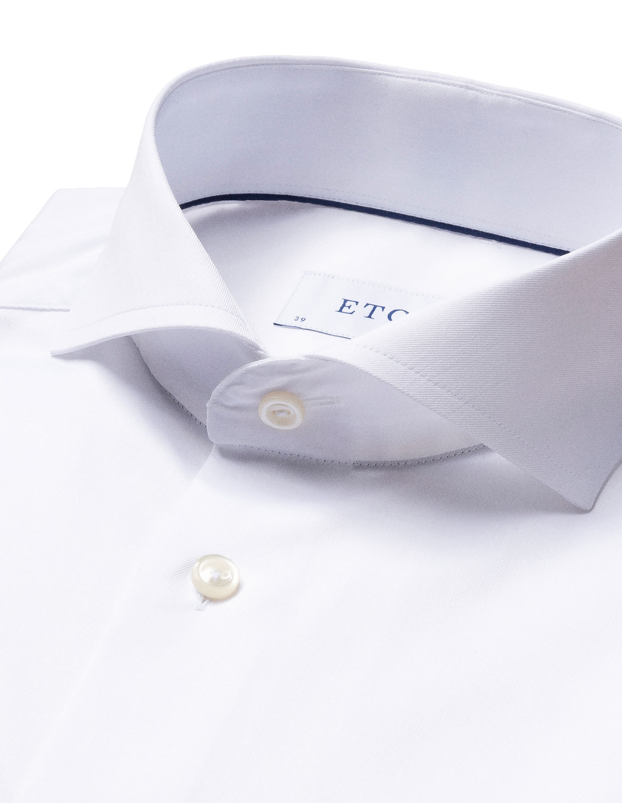 Super Slim Fit Twill Shirt Vit