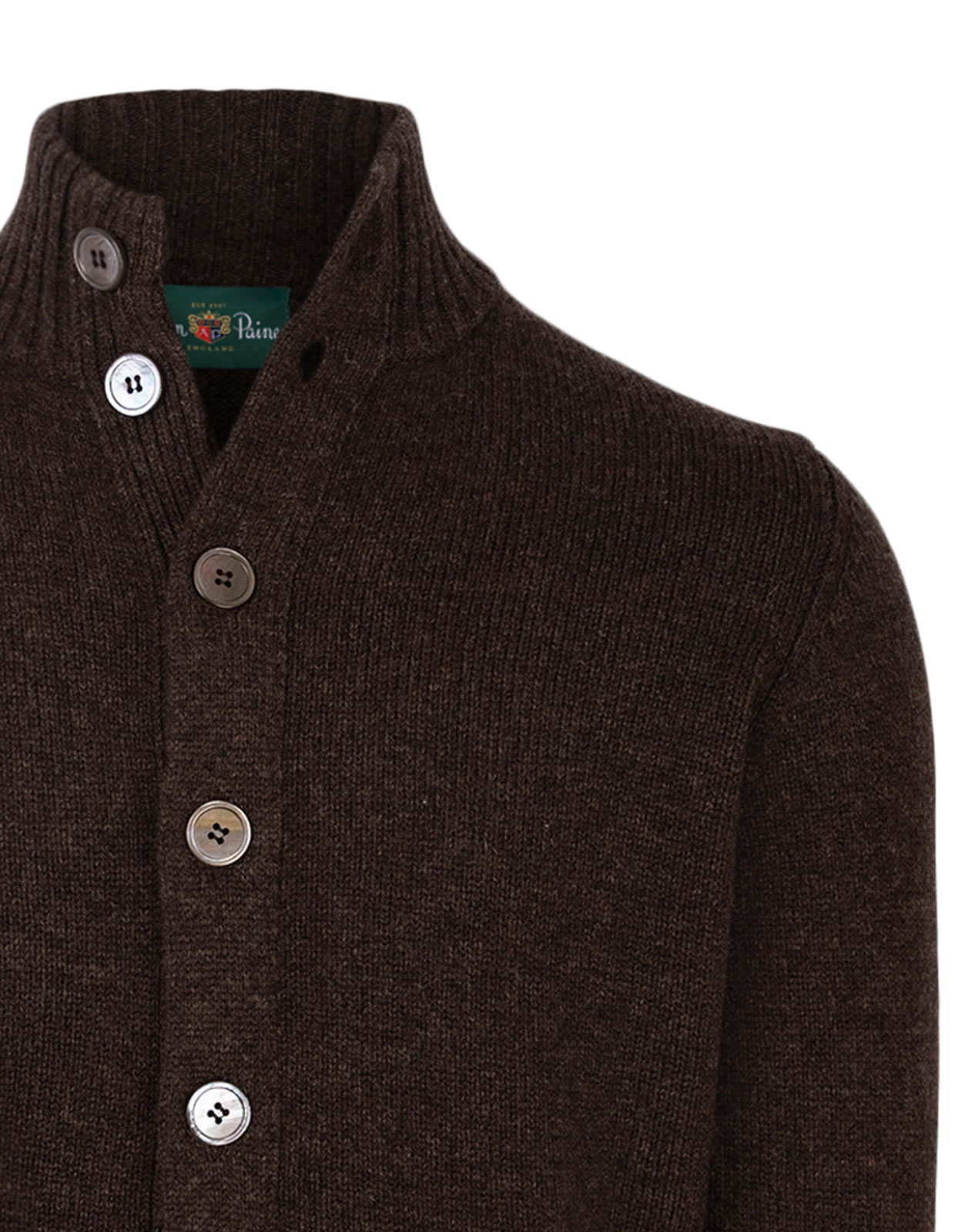 Landford Full Button Cardigan Cocoa