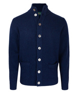 Landford Full Button Cardigan Indigo