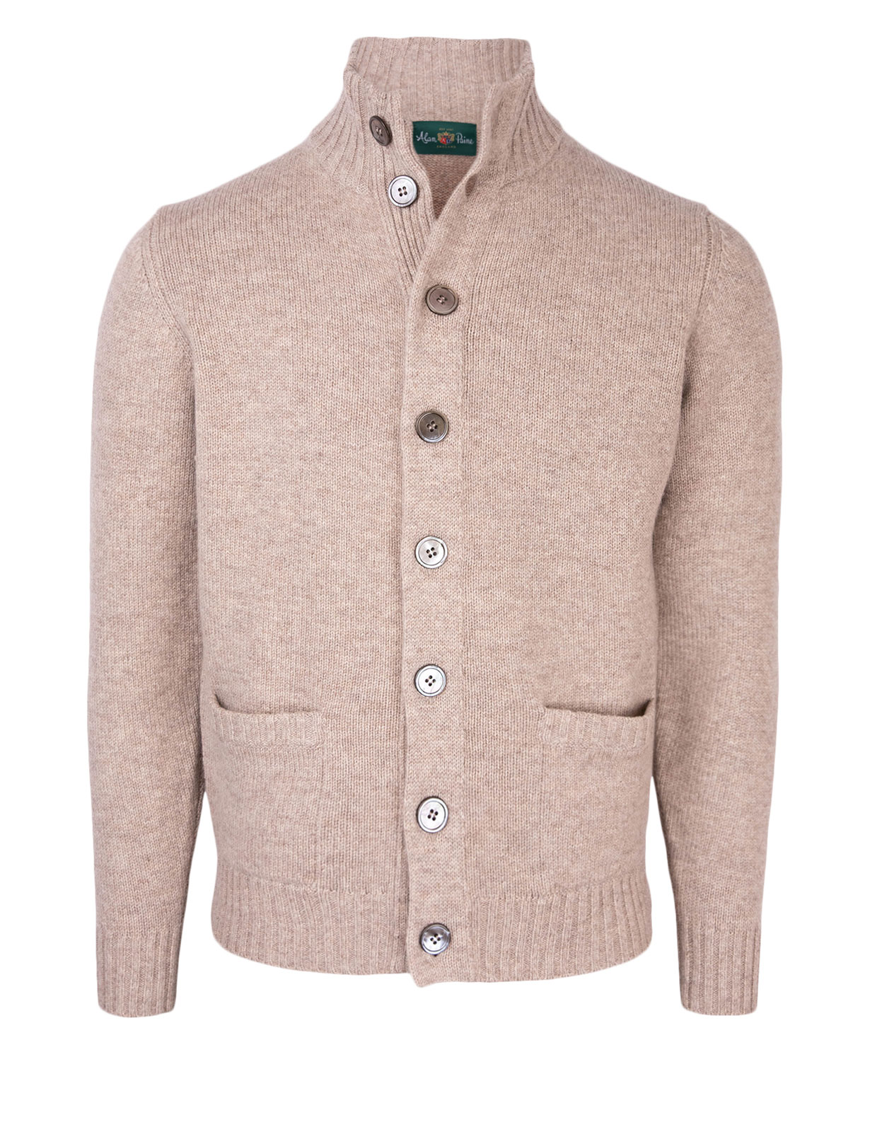 Landford Full Button Cardigan Cobble