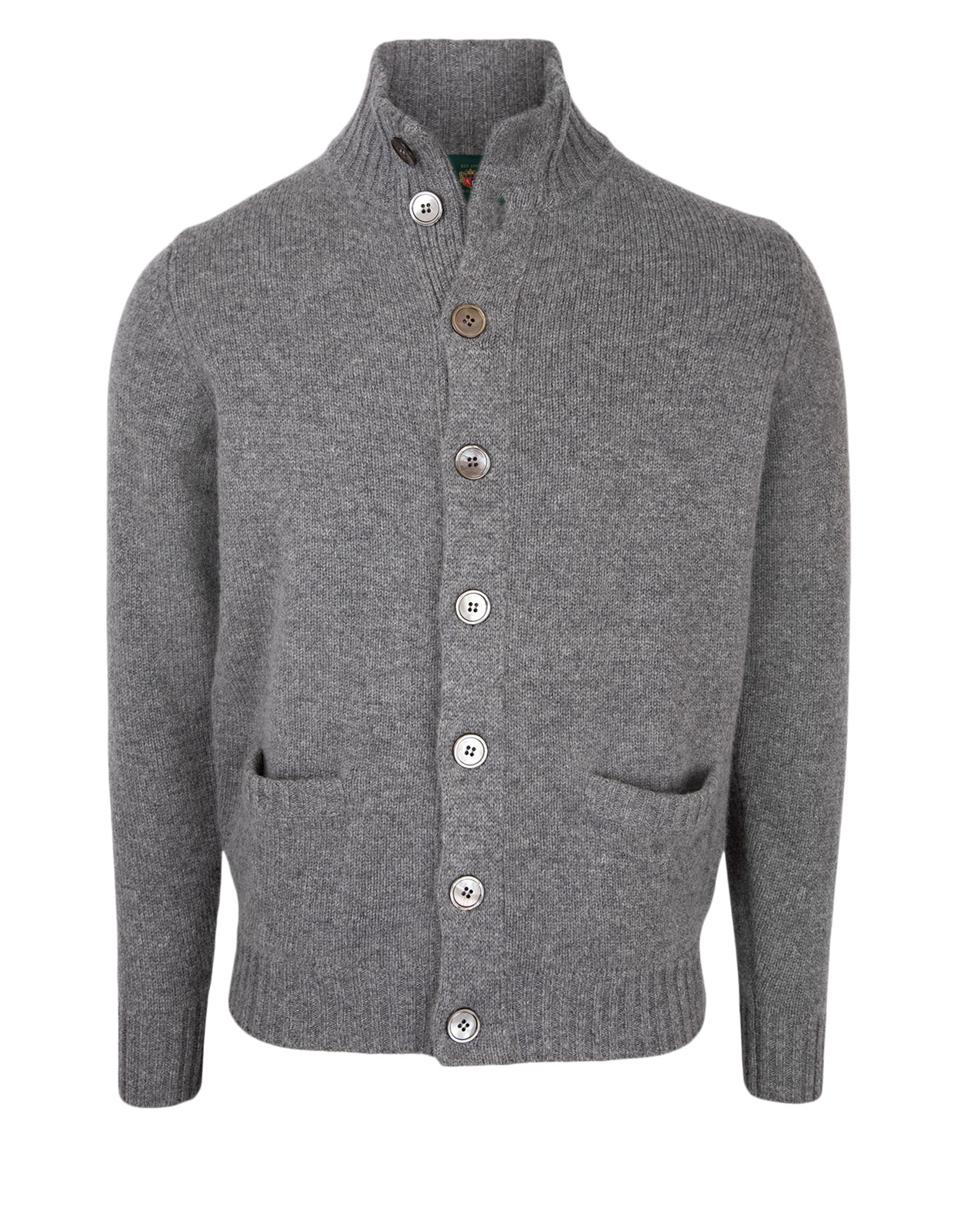 Landford Full Button Cardigan Grey Mix