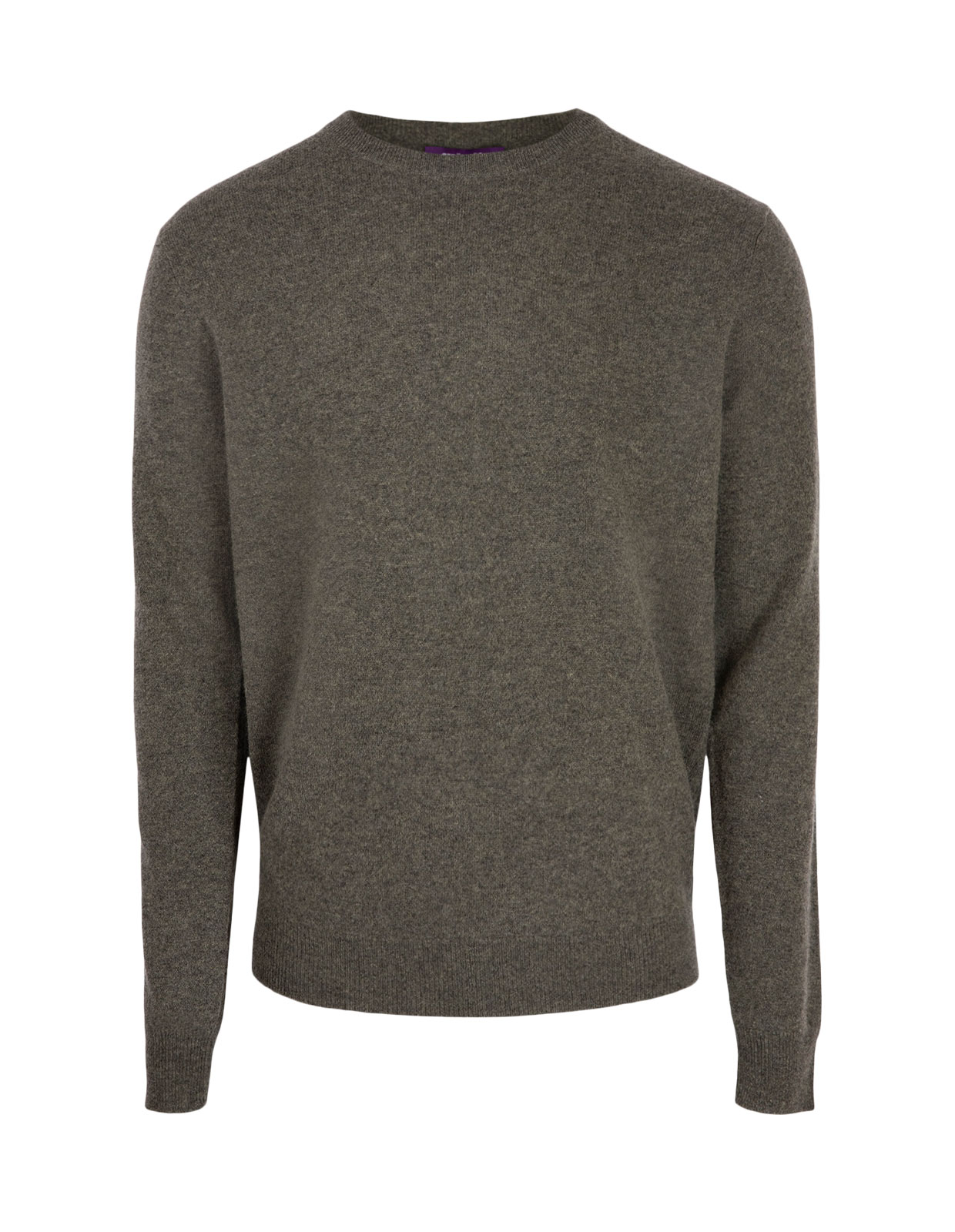 Crew Neck Cashmere Heather Green