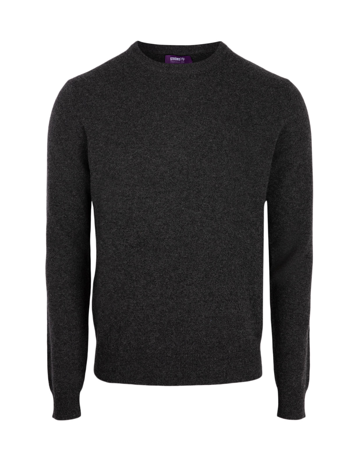 Crew Neck Cashmere Charcoal