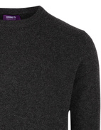 Crew Neck Tröja Cashmere Charcoal