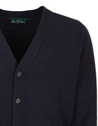 Cornwall Vee Neck Cardigan Navy Stl 48
