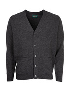 Cornwall Vee Neck Cardigan Charcoal Stl 54