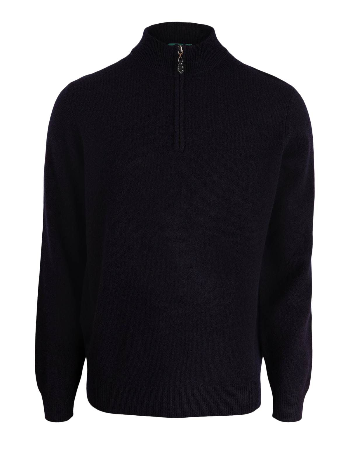 Sutherland Half Zip Mock Neck Jumper Navy