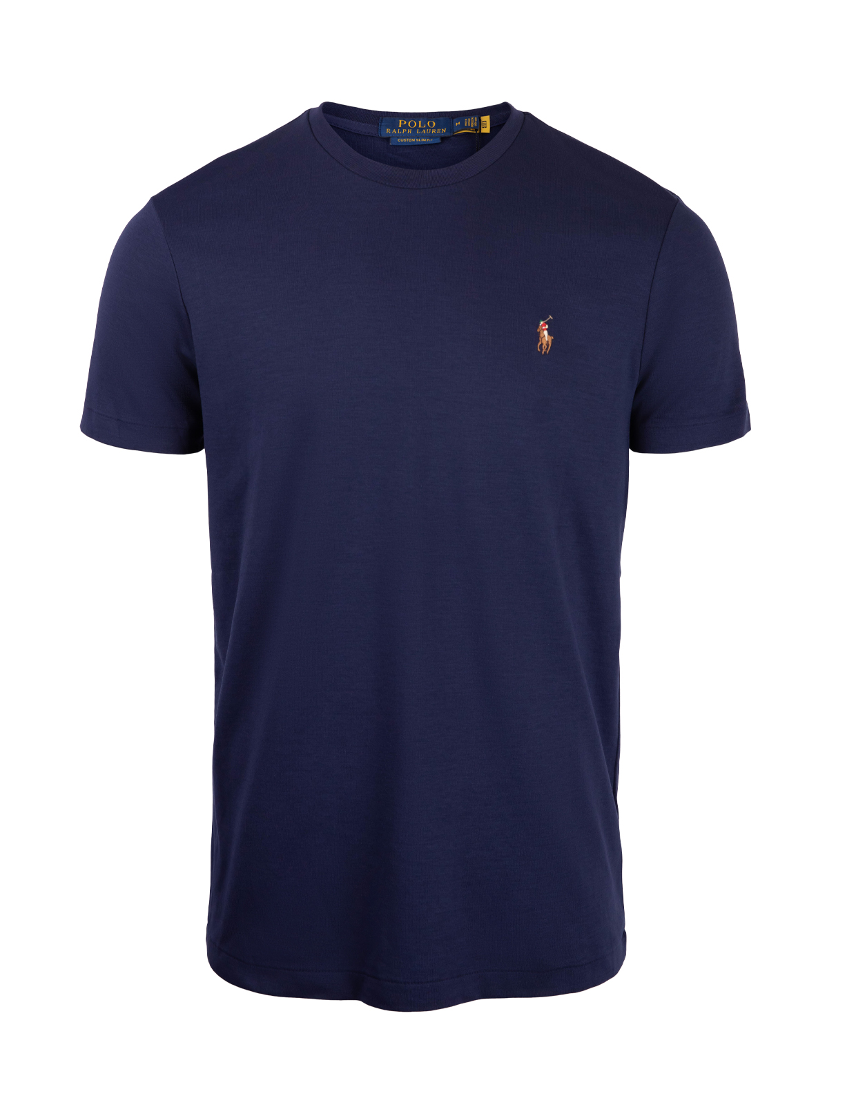 Luxury Pima Cotton Crew Neck Tee French Navy