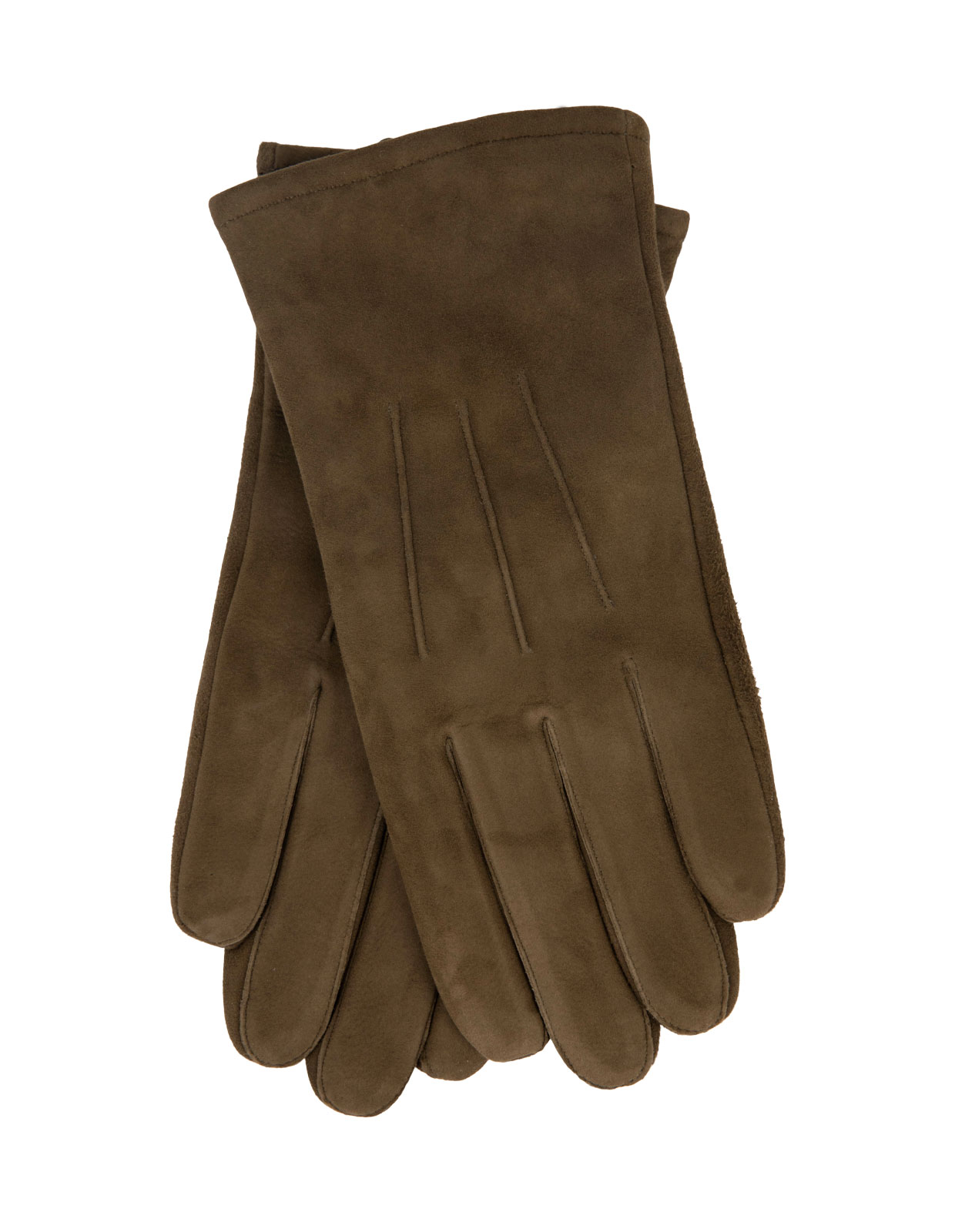 Goatsuede Gloves Olive Green