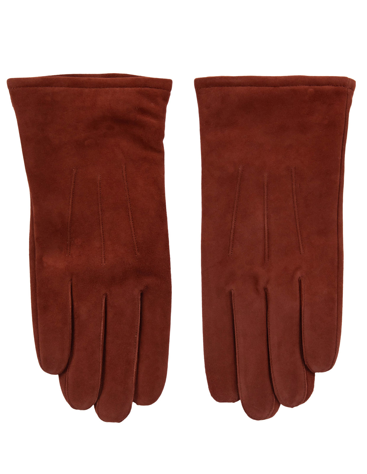 Goatsuede Gloves Red/Brown