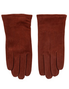 Goatsuede Gloves Red/Brown Stl 8.5