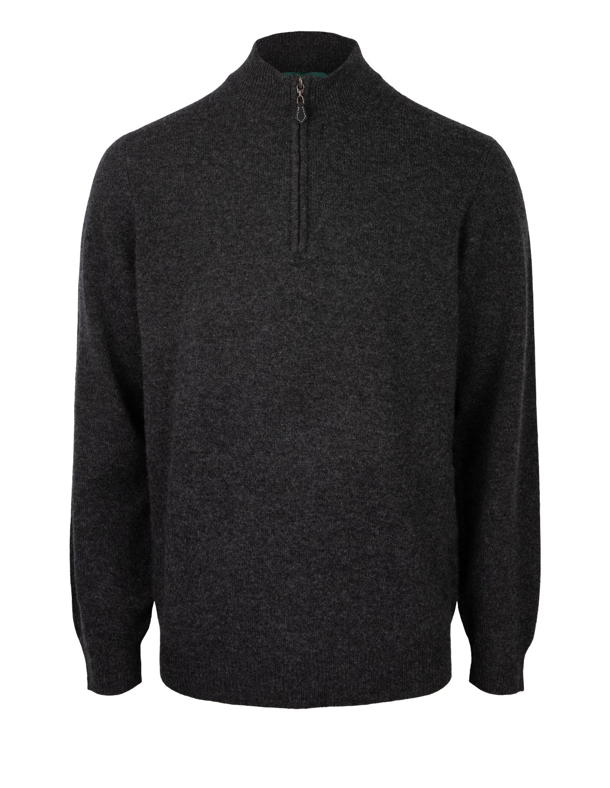 Sutherland Half Zip Mock Neck Jumper Charcoal