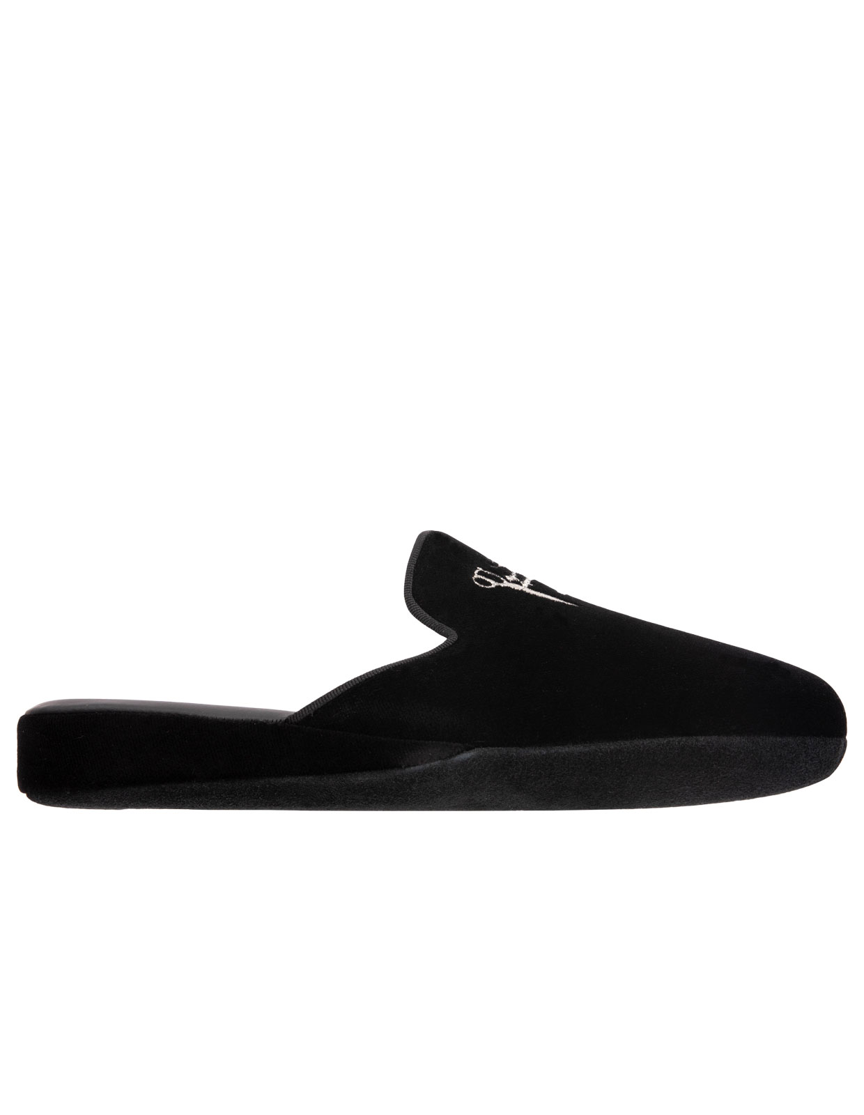 Slip-in Slipper Velvet Black