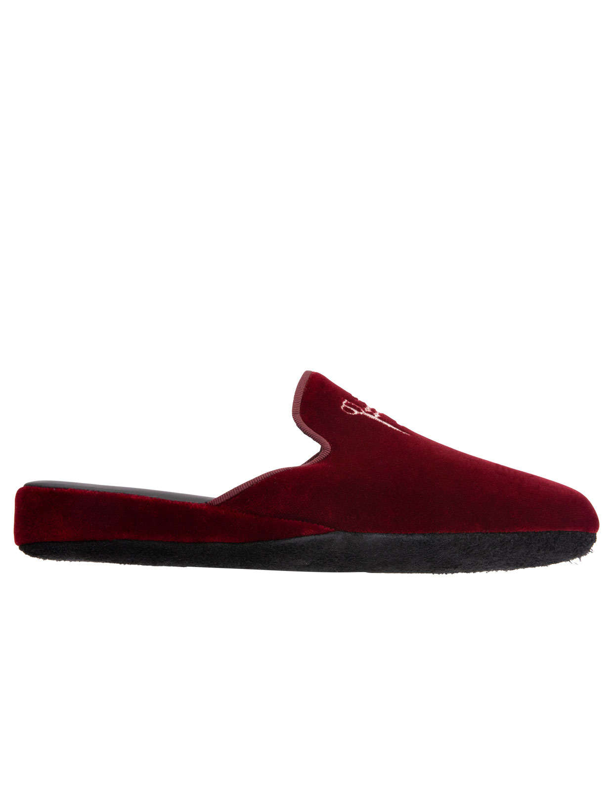 Slip-in Slipper Velvet Wine Red