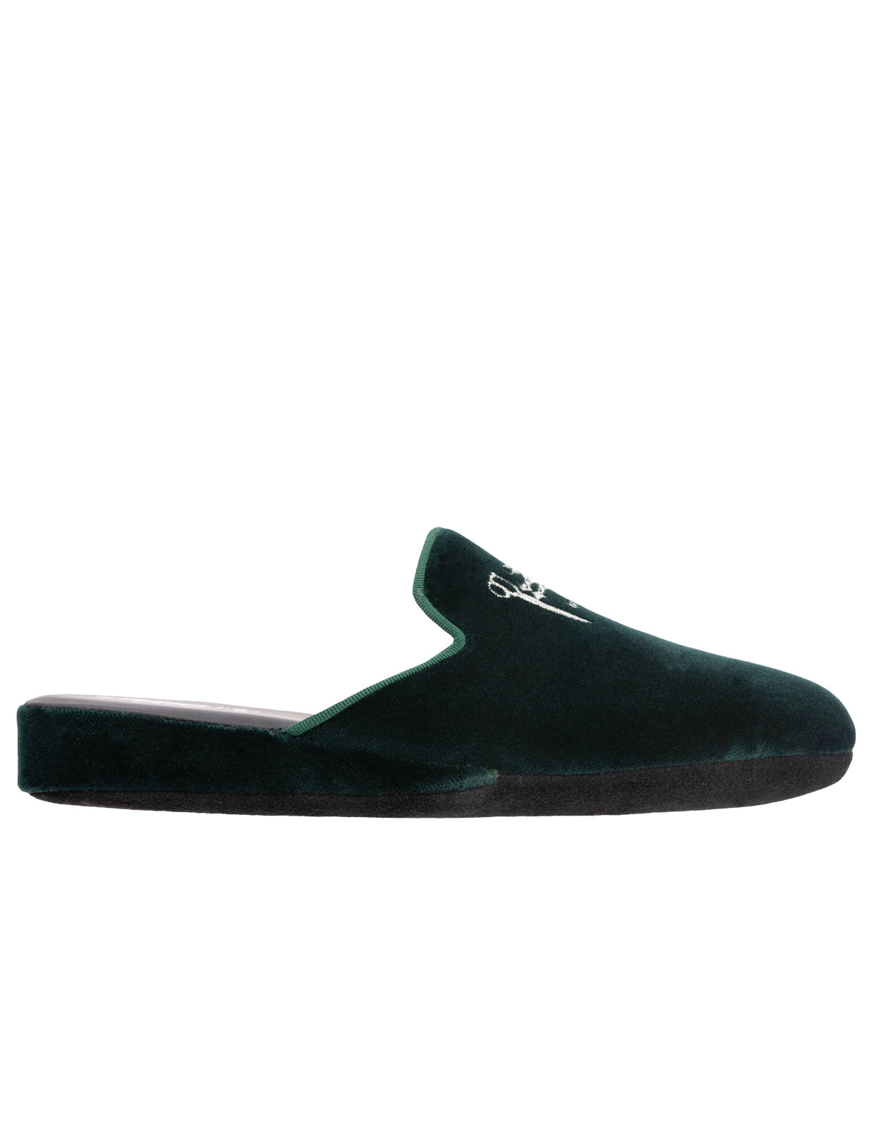 Slip-in Toffla Sammet Racing Green