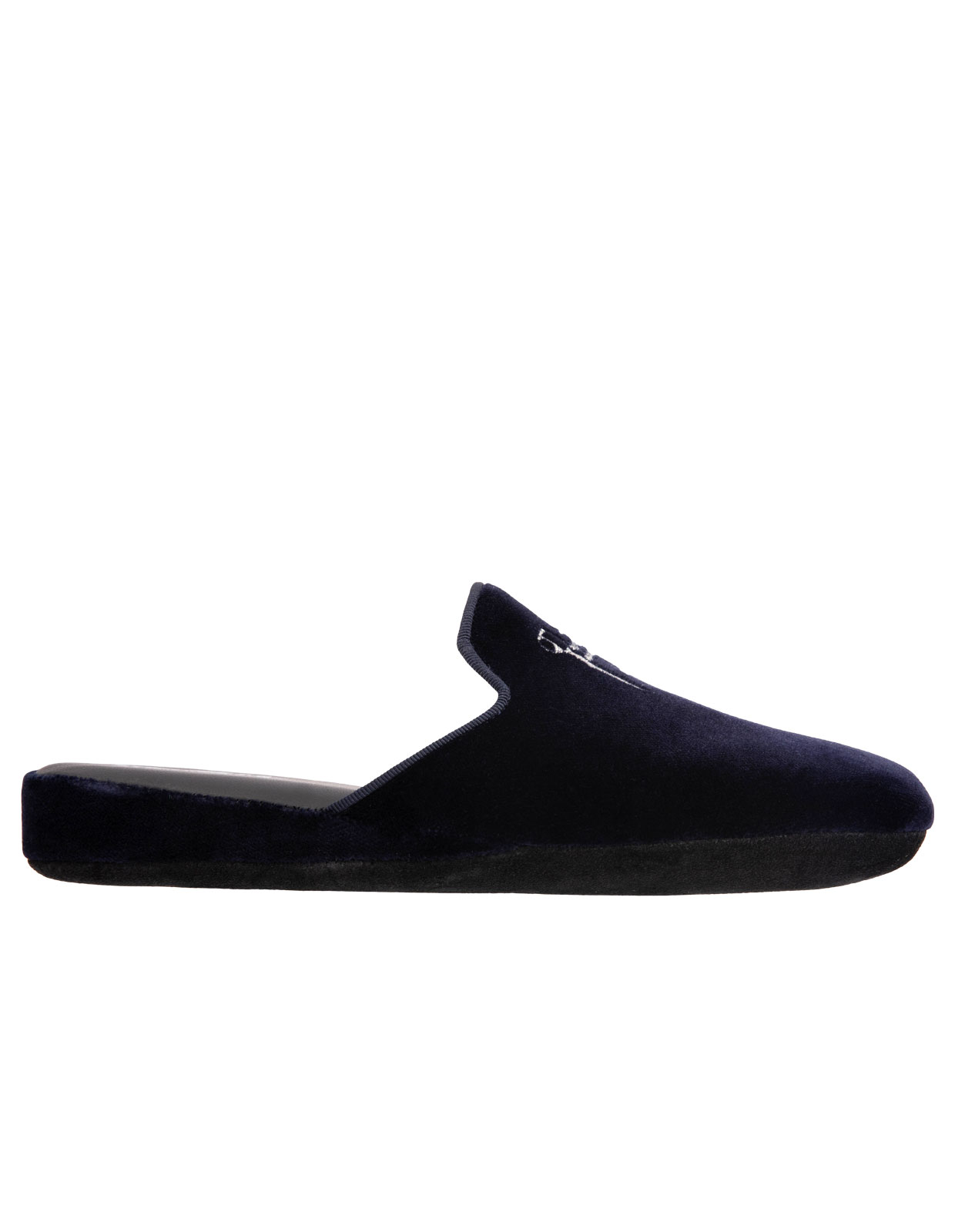 Slip-in Slipper Velvet Navy