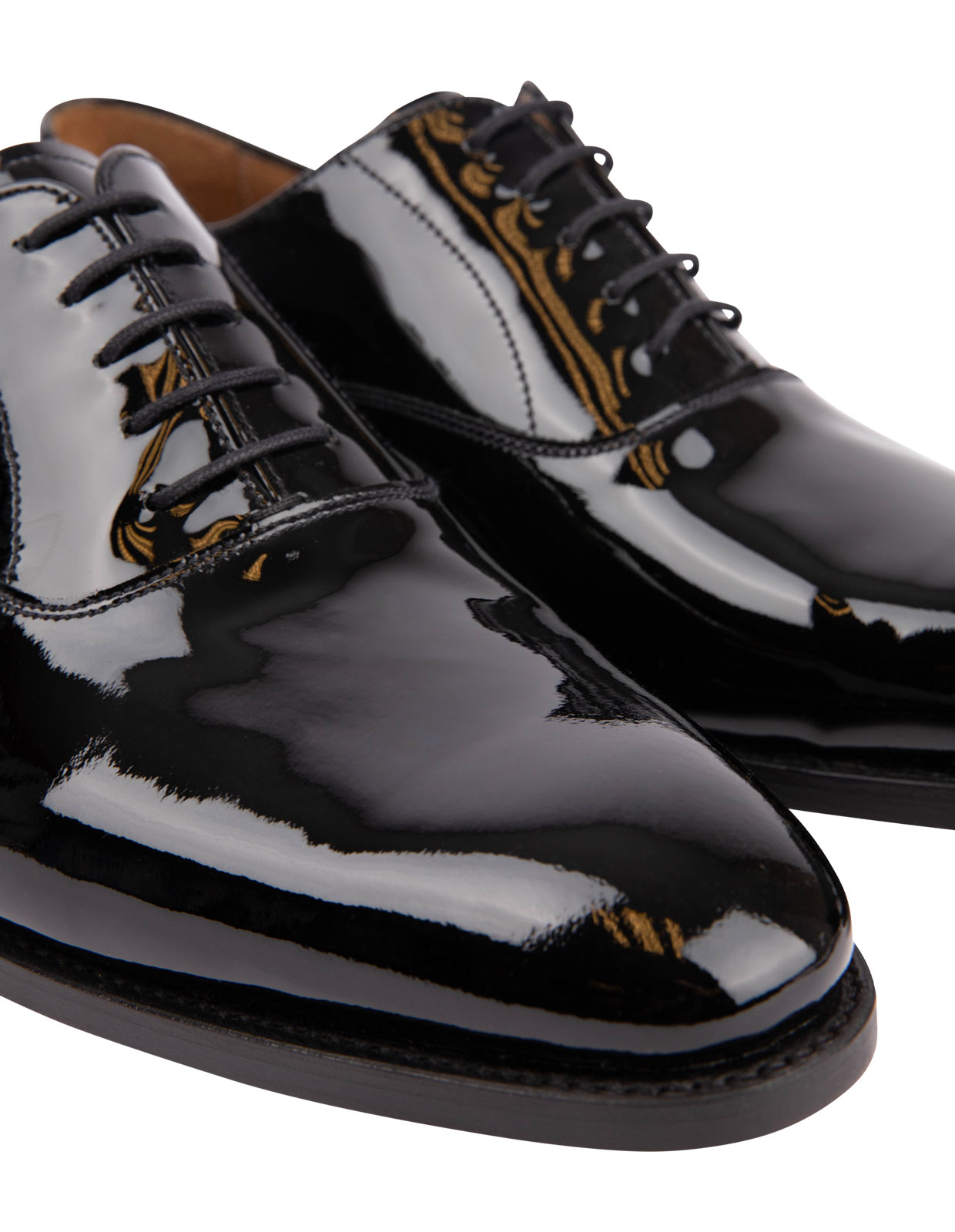 Patent Leather Oxford Shoe Black