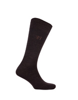 Socks Wool Blend Brown