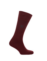 Socks Wool Blend Bordeaux