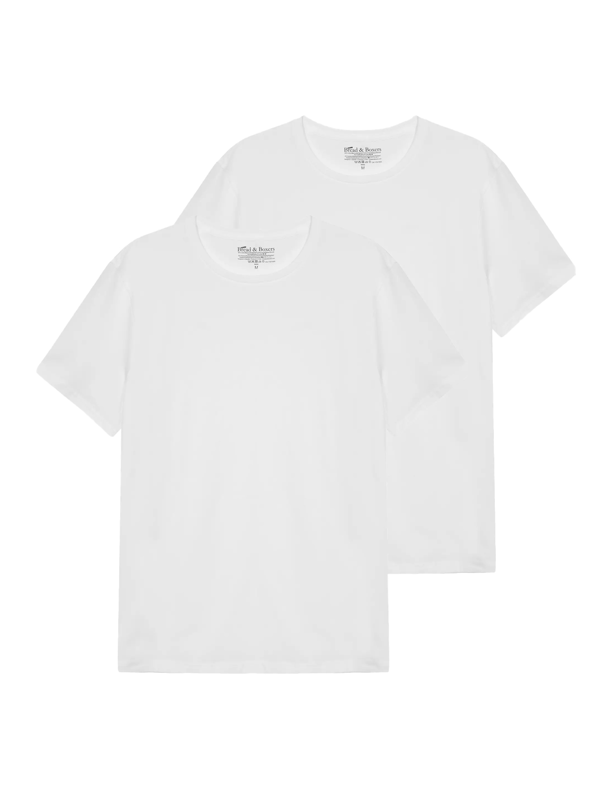 T-Shirt Crew Neck 2 pack White