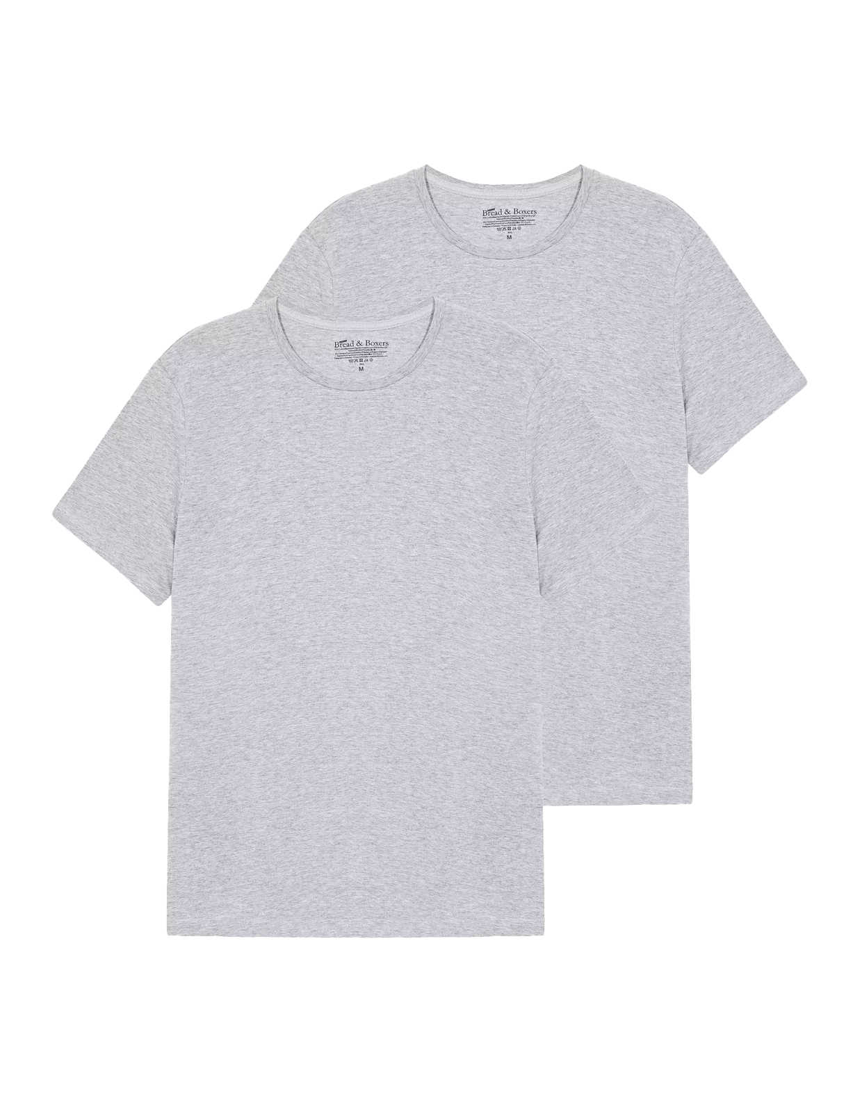 T-Shirt Crew Neck 2 pack Grey Melange Stl S