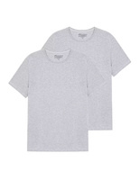 T-Shirt Crew Neck 2 pack GreyMelange