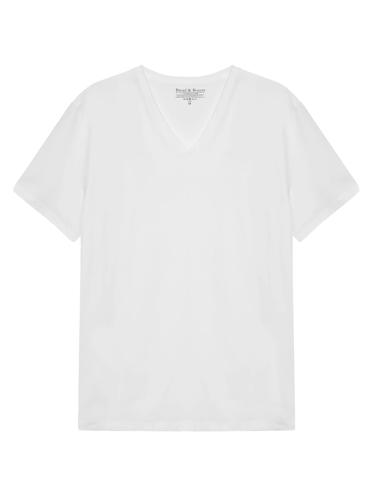 T-Shirt V-neck Vit