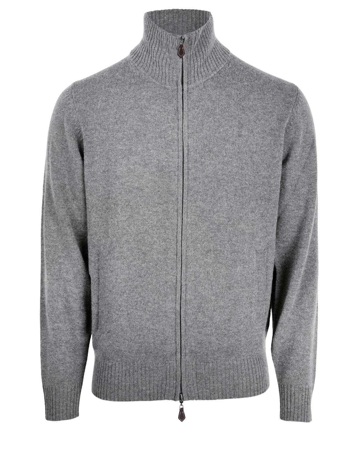 Ballater Full Zip Cardigan Grey Mix