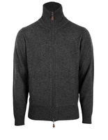 Ballater Full Zip Cardigan Charcoal