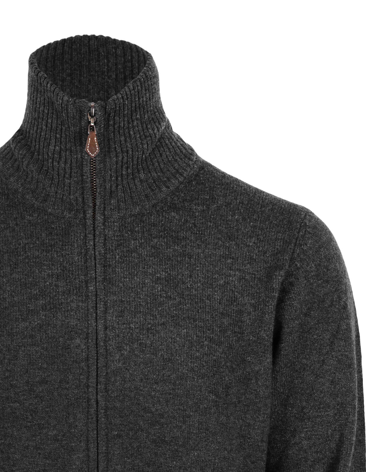 Ballater Full Zip Cardigan Charcoal Stl 56