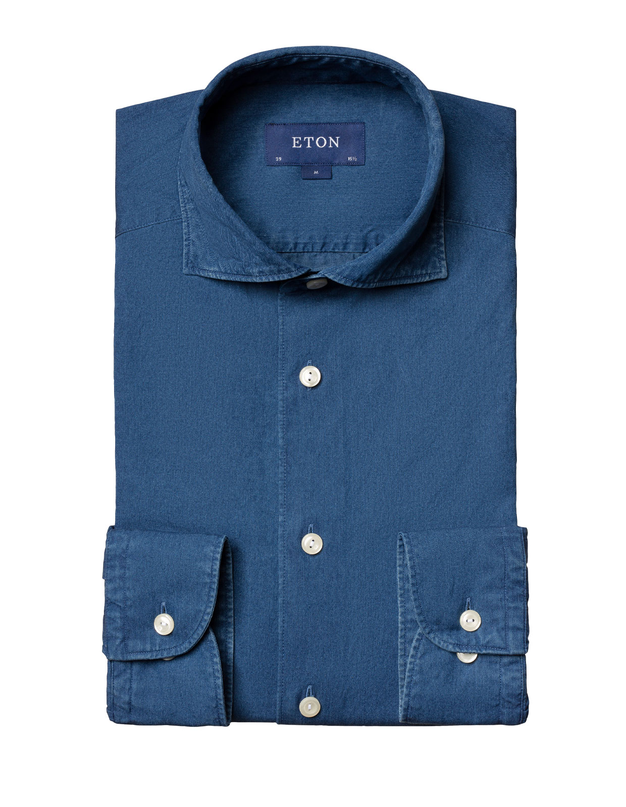 Slim Fit Soft Denim Shirt Indigo