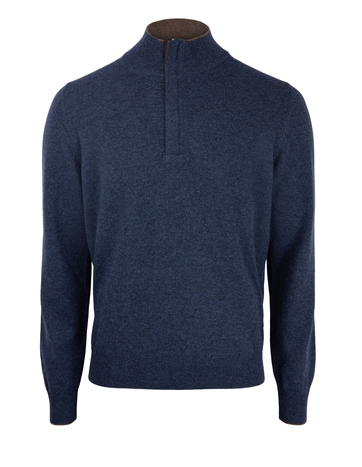 Half Zip W Patch Wool & Cashmere Navy