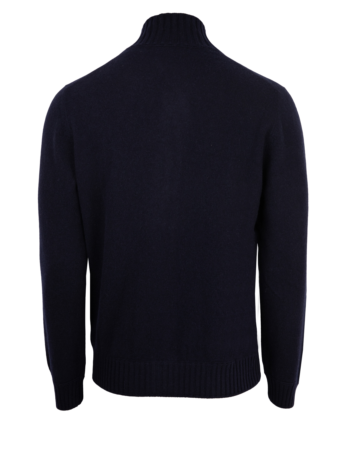 Full Zip Tröja Felted Cashmere Navy