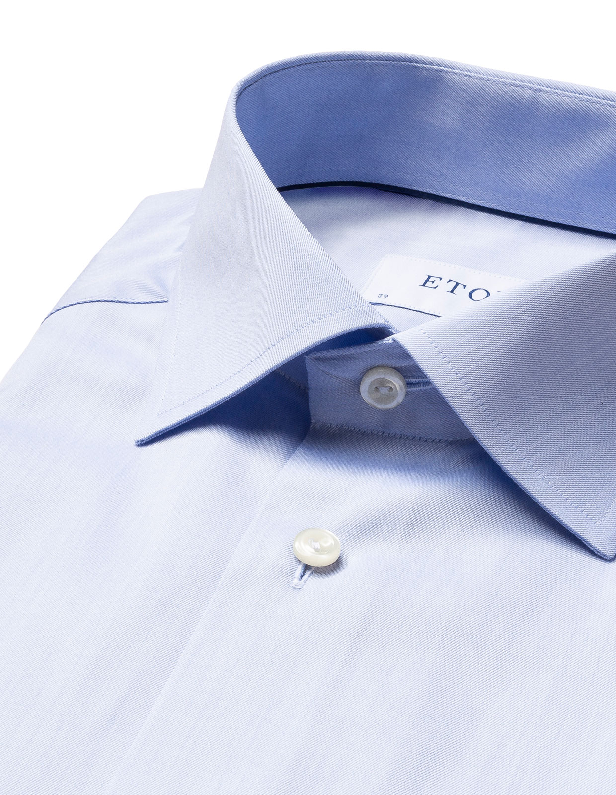 Contemporary Fit Signature Twill Shirt Light Blue Stl 38