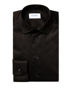 Contemporary Fit Signature Twill Shirt Black Stl 45
