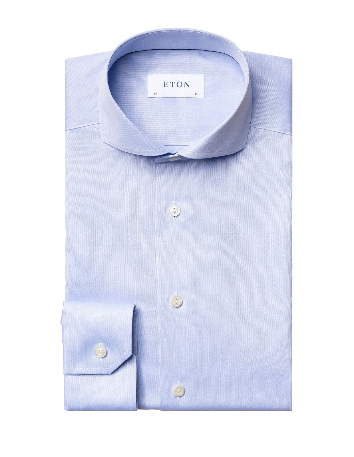 Super Slim Fit Twill Shirt Ljusblå