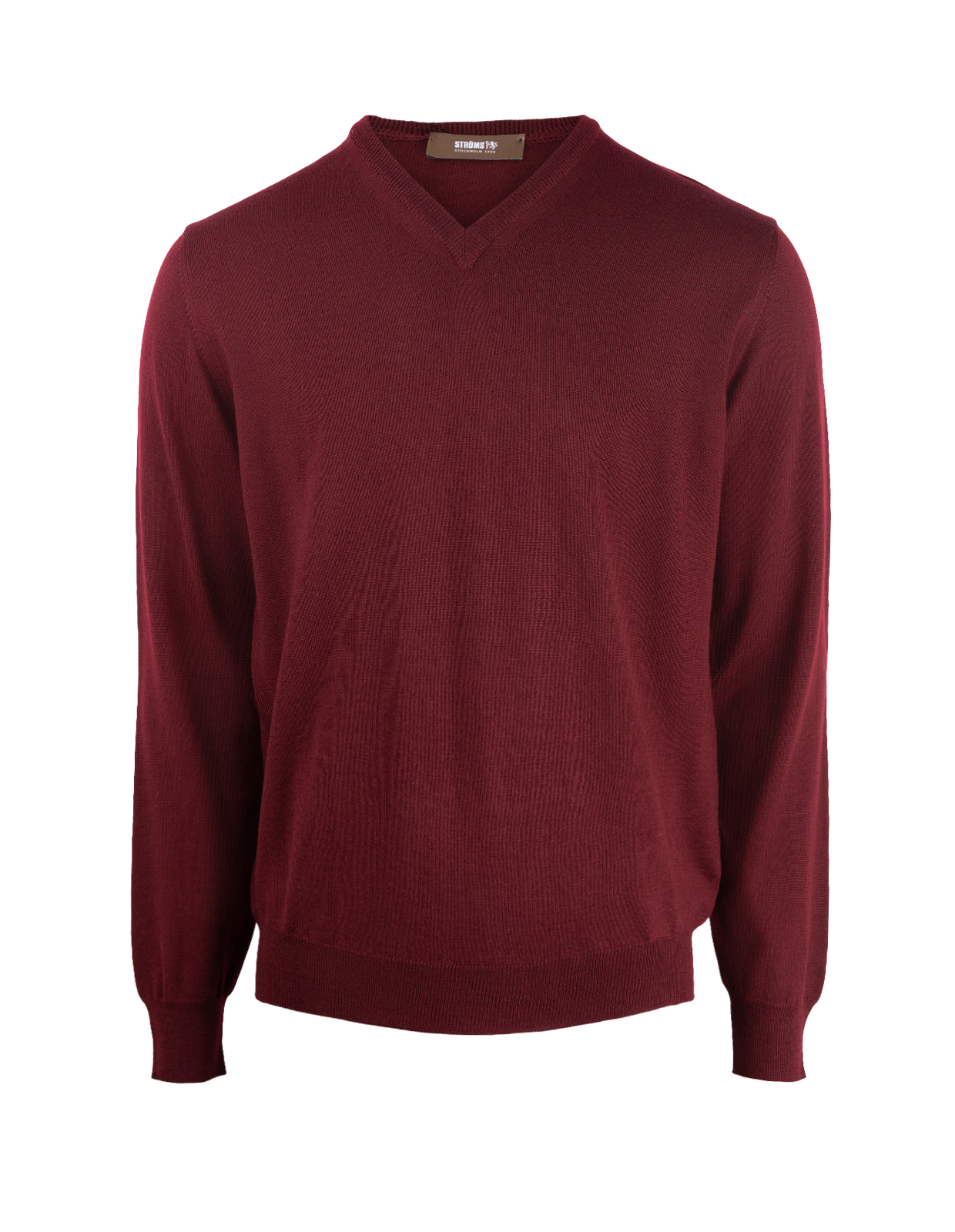 V-Neck Merino Bordeaux