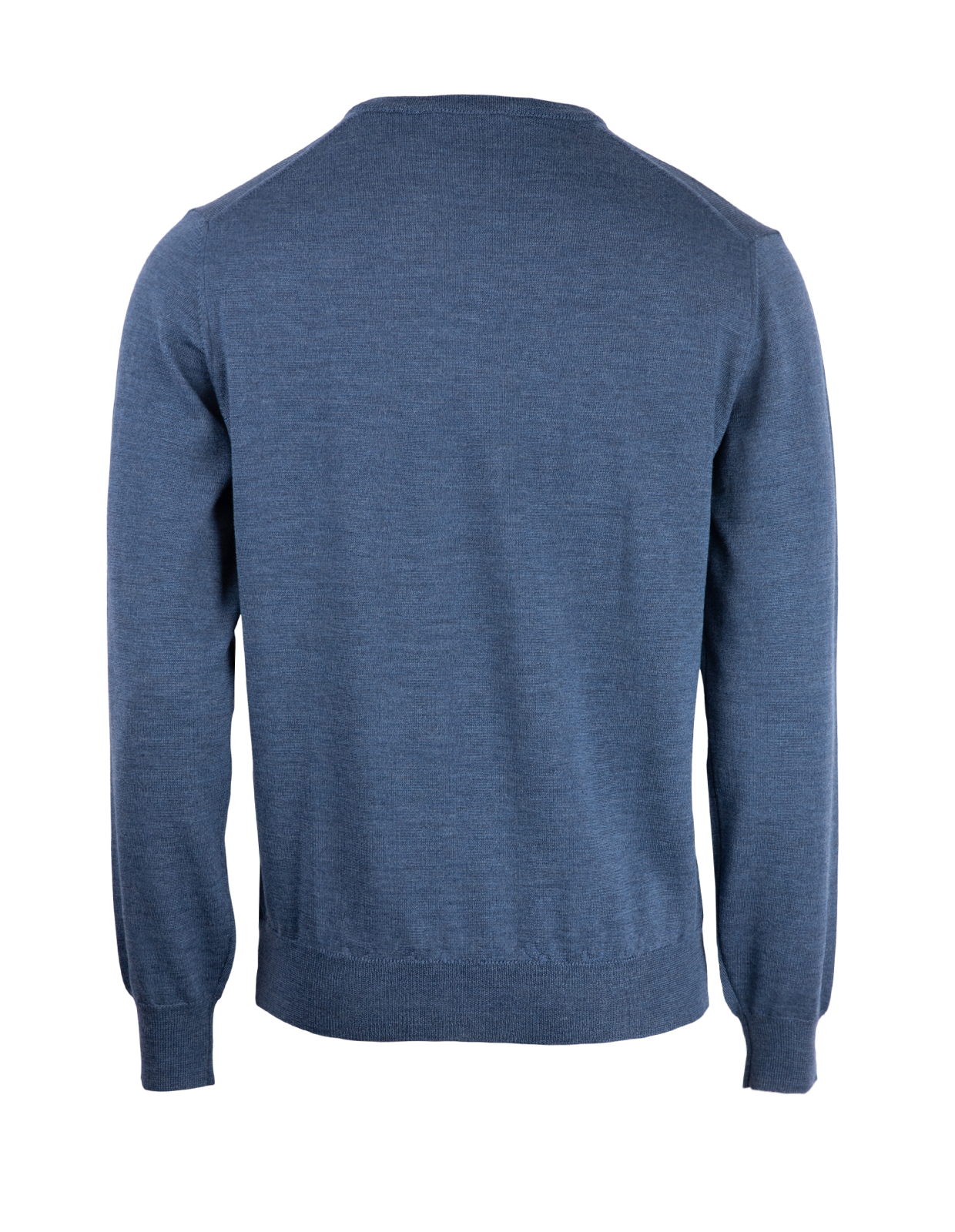 V-Neck Tröja Merino Denim