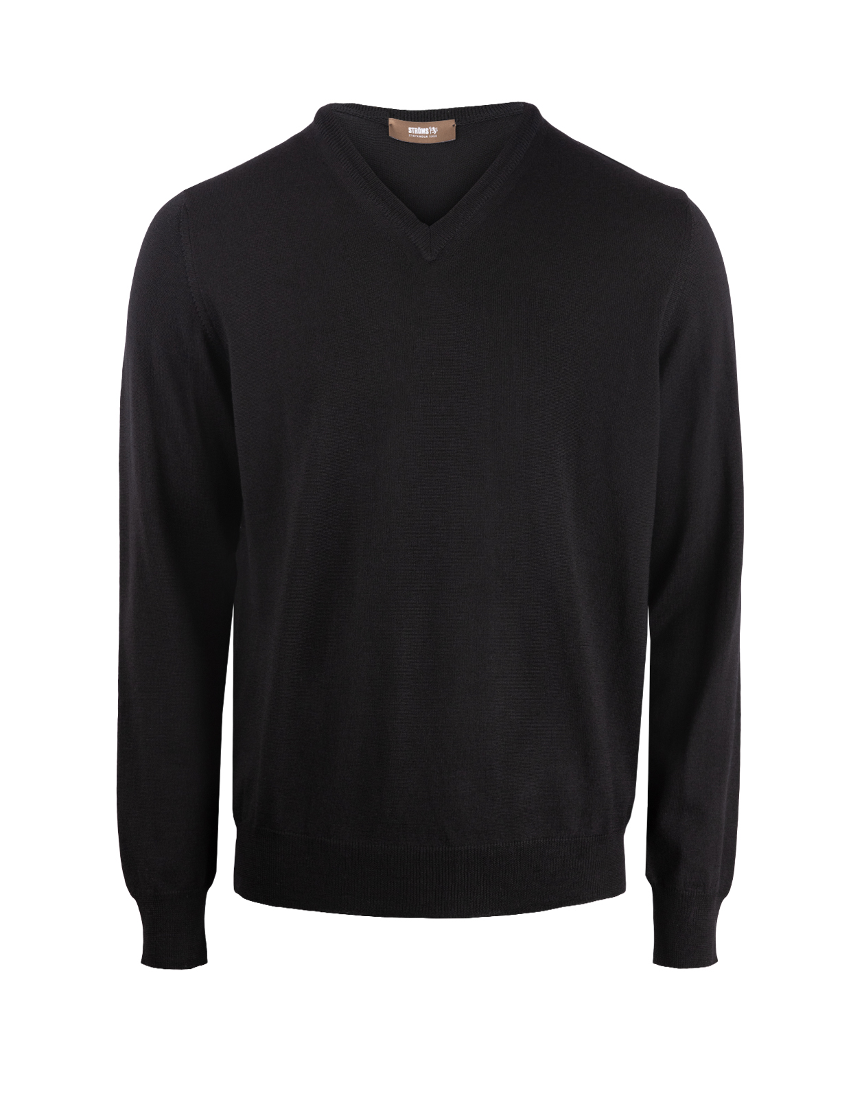 V-Neck Merino Black