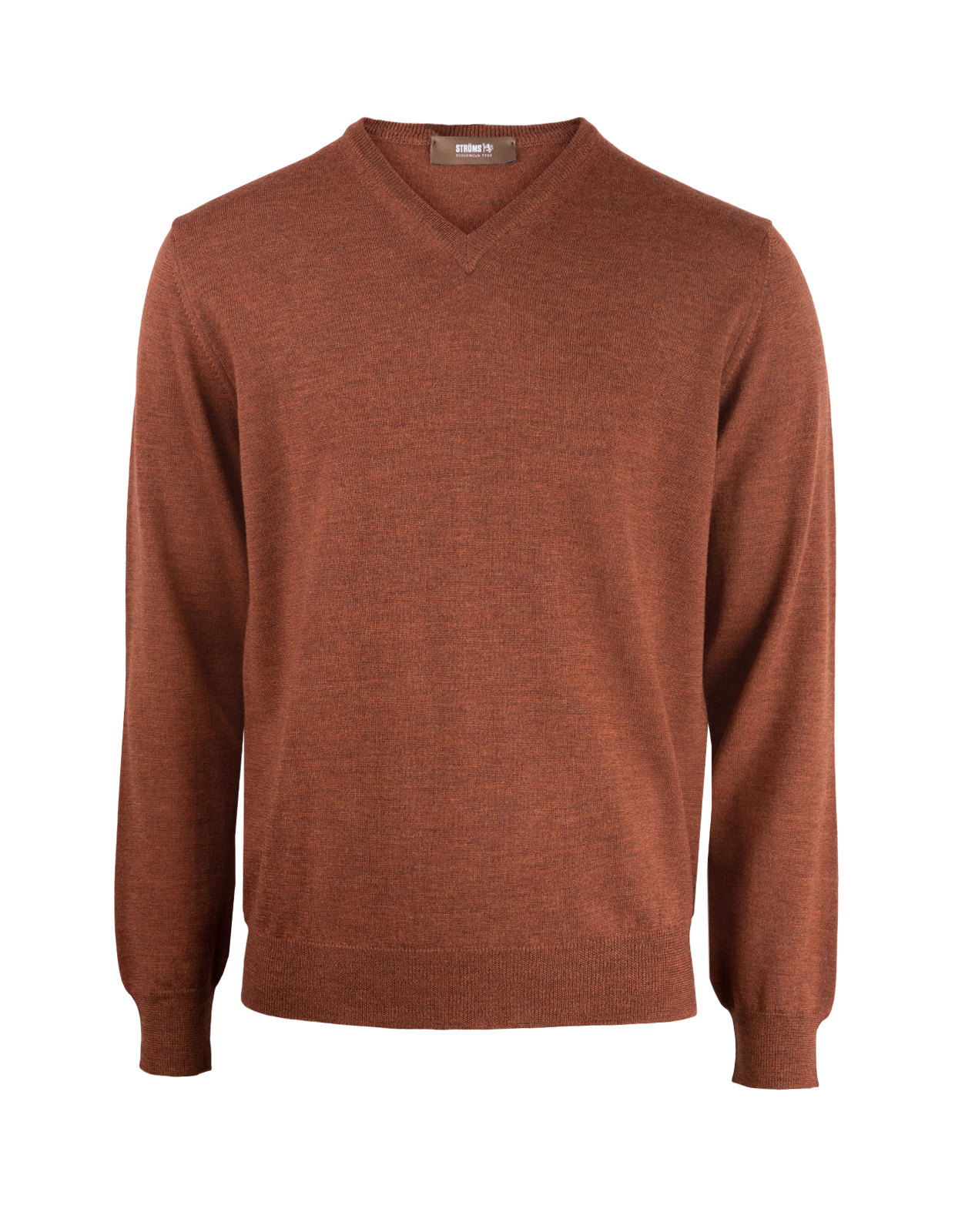 V-Neck Merino Rust