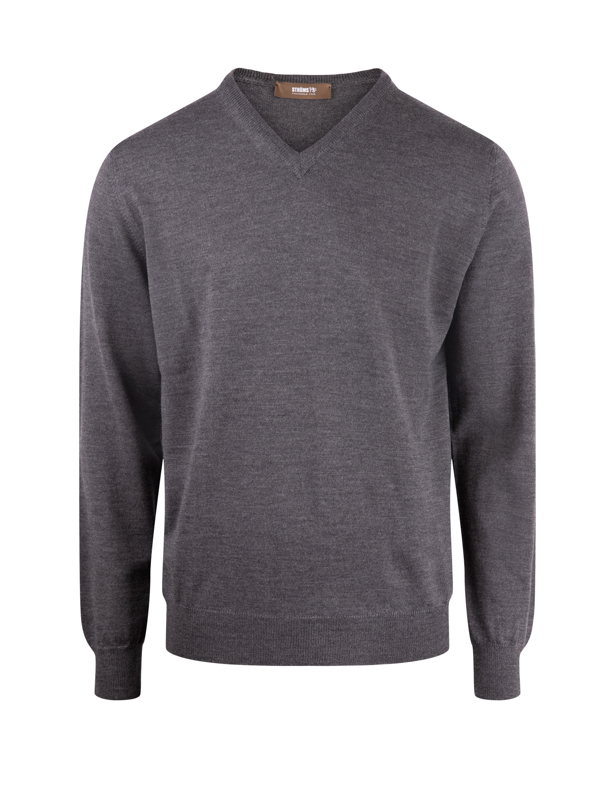 V-Neck Merino Dark Grey