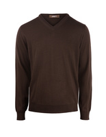 V-Neck Merino Chocolate