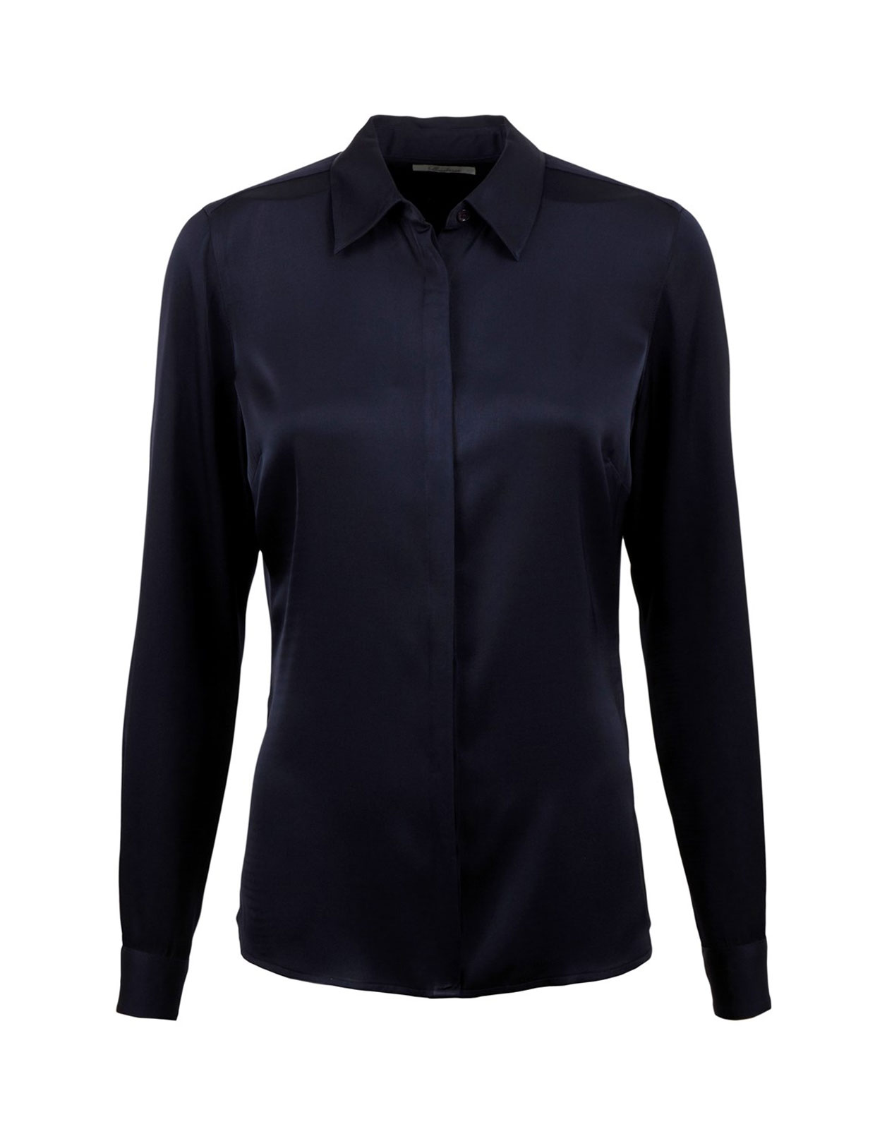 Silk Shirt Navy
