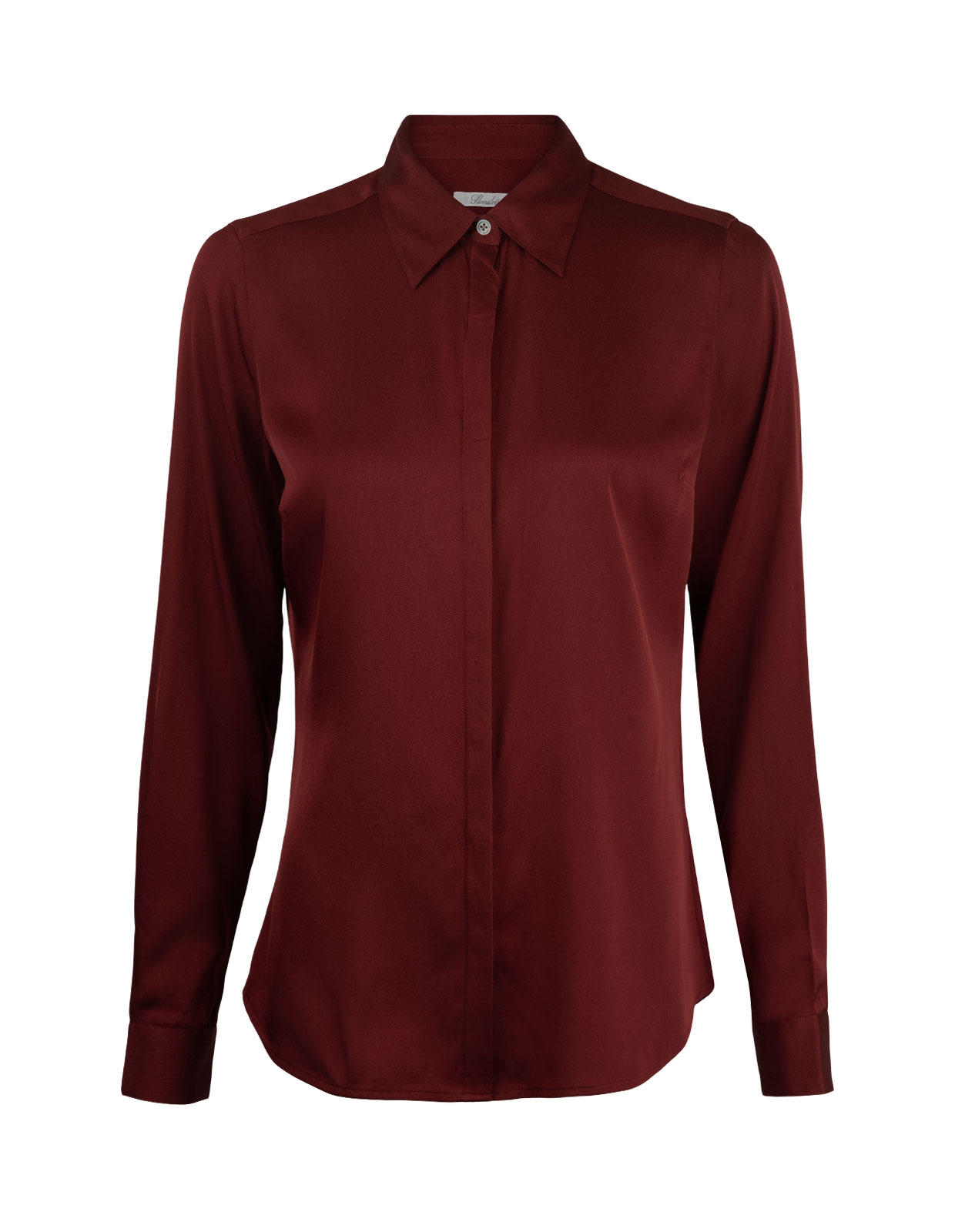 Silk Shirt Burgundy