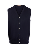 Knitted Vest Merino Navy