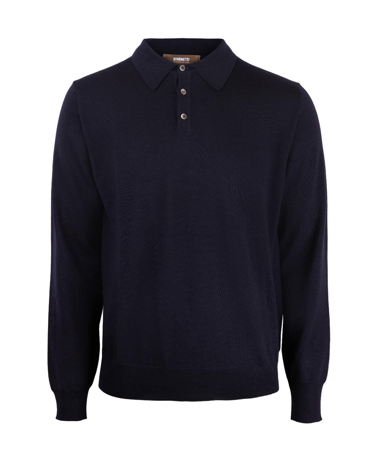 Poloshirt Sweater Merino Navy