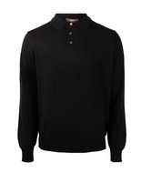 Poloshirt Sweater Merino Black