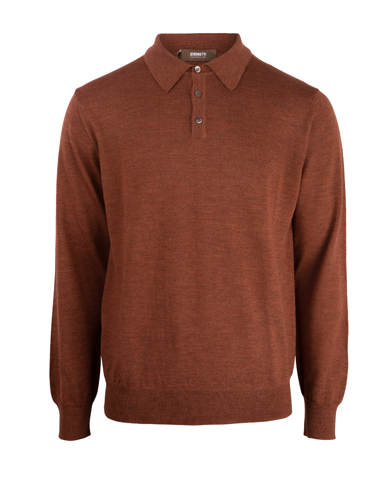 Poloshirt Sweater Merino Rust