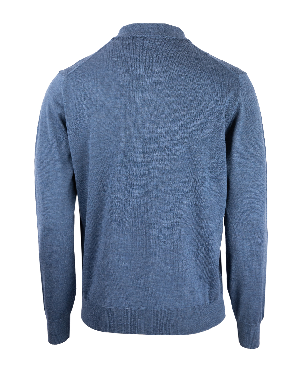 Poloshirt Sweater Merino Denim Stl L